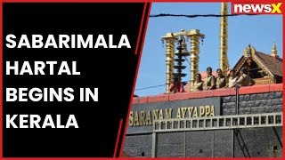 Sabarimala hartal begins in Kerala after Hindu leader's protest - NEWSXLIVE