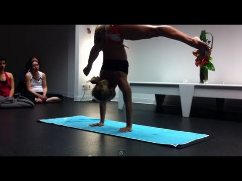 Ashtanga Yoga Demo  with Kino MacGregor in Vancouver, Canada Part One Arm Balances and Hip Opening