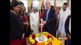 US President Donald Trump celebrates Diwali in Oval office - INDIATV