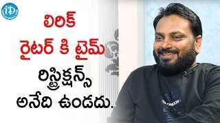 No Time Restrictions for Lyric Writers - Krishna Kanth | Talking Movies With iDream | Deeksha Sid - IDREAMMOVIES