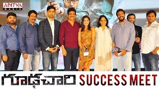 Goodachari Success Meet | Adivi Sesh, Sobhita Dhulipala | Sricharan Pakala - ADITYAMUSIC