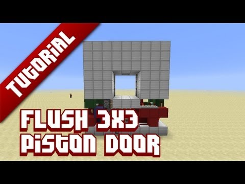 Minecraft Tutorial: Flush 3x3 Piston Door