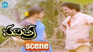 Pavitra Movie Scenes - Kittaiah Irritates Pavitra || Rajendra Prasad, Bhanupriya - IDREAMMOVIES