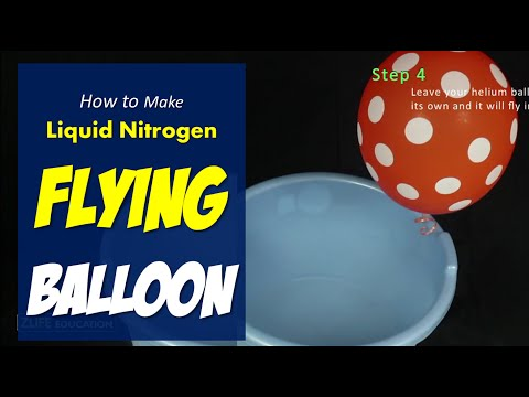 Liquid Nitrogen and Helium Balloon Freezing and Flying