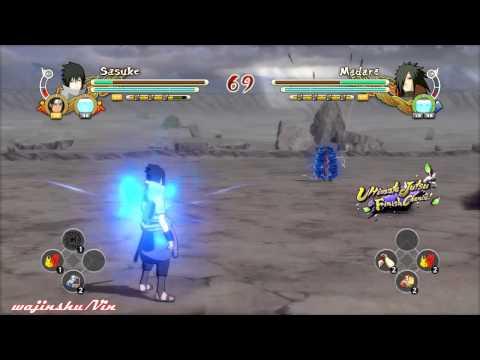 Naruto Ultimate Ninja Storm 3 EMS Sasuke vs Edo Madara