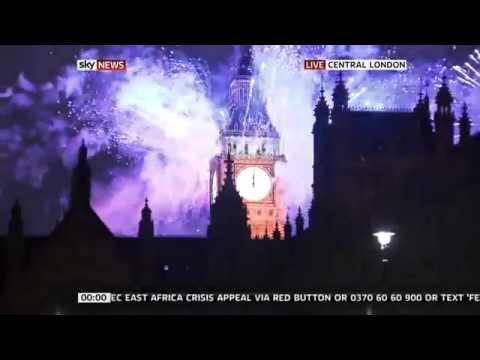 London Fireworks 2012 New Years Eve Full Version (HD)