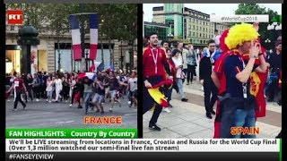 World Cup 3rd place play-off England Belgium #FansEyeView Livestream (Live + Tape) - RUSSIATODAY