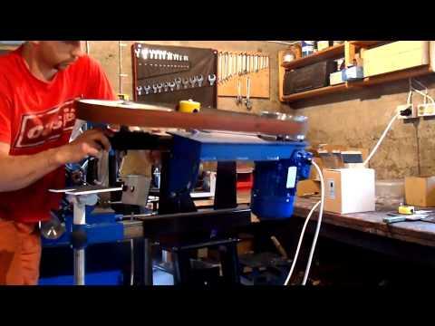 szlifierka taśmowa DIY z falownikiem belt grinder