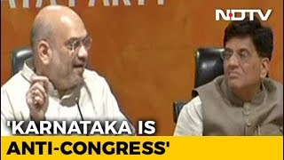 What Is Congress Celebrating In Karnataka, Asks Amit Shah - NDTV