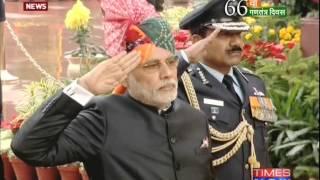 Narendra Modi pays homage to martyrs at Amar Jawan Jyoti - TIMESNOWONLINE