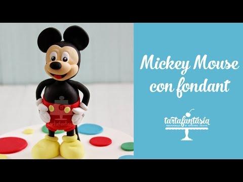 Como hacer a Mickey Mouse con Fondant