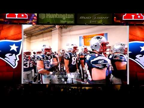 Super Bowl XLVI Pats/Giants Team Introductions