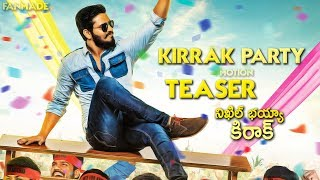 Nikhil's KIRRAK PARTY First Look Motion Teaser | Sudheer Varma | Chandoo Mondeti | Fanmade | TFPC - TFPC