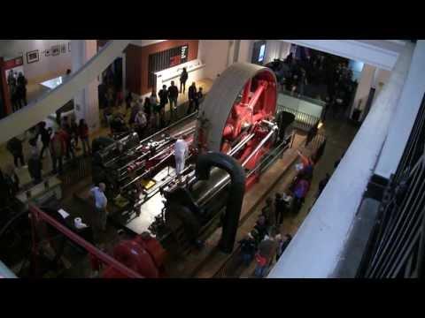 Starting The Big Red Corliss Steam Engine