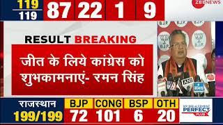 Chhattisgarh assembly poll results: Raman Singh congratulates Congress for victory - ZEENEWS