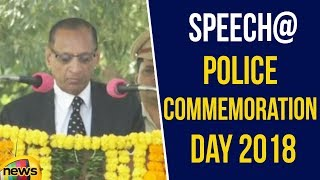 Telangana Governor E S L Narasimhan Speech at Police Commemoration Day 2018 | Mango News - MANGONEWS