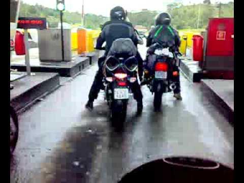 6 MOTOS EM ALTA VELOCIDADE DE SP A FLORIPA S.C