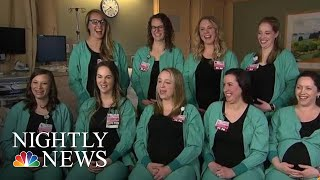 Nine Nurses From Same Hospital Wing All Expecting This Spring | NBC Nightly News - NBCNEWS