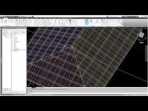 Autocad 3D - A melhor forma de fazer Telhados. (LISP) - The best form to create roof.