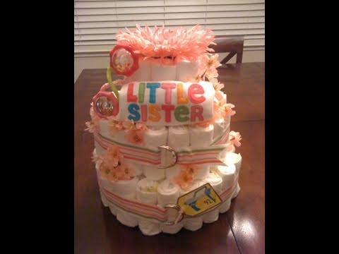 How to Make a Diaper Cake -PM6qg94qOzY