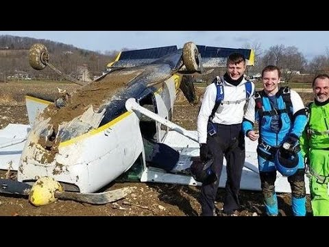 Skydiving Plane Crash Inside Video POV-Cessna 205