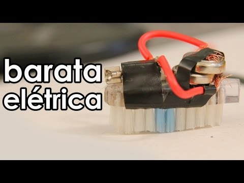 Barata elétrica (mini robô caseiro)
