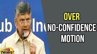 CM Chandrababu speaks to Media over No-Confidence Motion in Parliament | Mango News - MANGONEWS