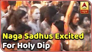 Kumbh: Naga Sadhus really excited for holy dip - ABPNEWSTV