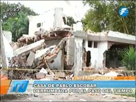 Vivienda del narcotraficante Pablo Escobar se derrumba por el paso de los años -06/02/2015