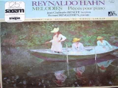 Bernard Ringeissen plays Reynaldo Hahn - Etude, Portrait, Narghilé, Valse, Portrait (LP 1976 rare)