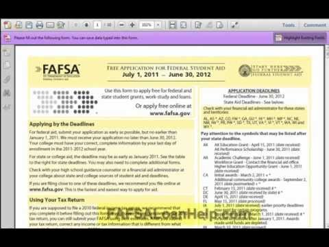 How to fill out the FAFSA part 1 of 11
