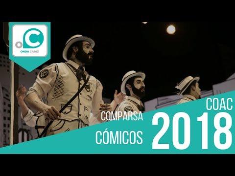 La agrupación Cómicos llega al COAC 2018 en la modalidad de Comparsas. Primera actuación de la agrupación para esta modalidad.