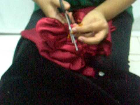 Bunga dari kain dengan pola.MOV