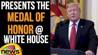Donald Trump Presents the Medal of Honor at White House | Trump Latest Speech | Mango News - MANGONEWS