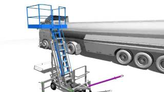 Стремянка передвижная алюминиевая–нефтянка  спа-н