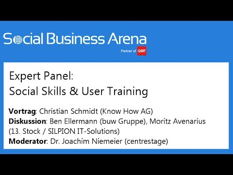#cebitsba 2014 | Expert-Panel: Social Skills & User Training