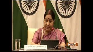 EAM Sushma Swaraj addresses media on killing of 39 Indians in Iraq's Mosul - INDIATV