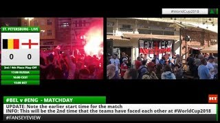 World Cup 2018: Fans Eye View #ENG #CRO #BEL #FRA - RUSSIATODAY