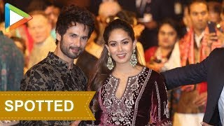 Cuties Shahid Kapoor & Mira Rajput at Isha Ambani- Anand Piramal's grand Wedding Celebrations - HUNGAMA