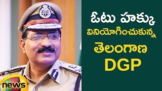 DGP Mahender Reddy Casts His Vote | Telangana Elections Live Updates |#TelanganaElections|Mango News - MANGONEWS