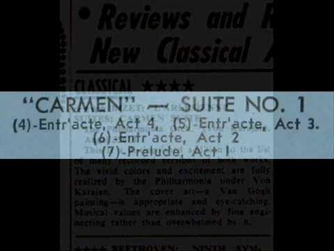 Bizet / Herbert von Karajan, 1958: Carmen, Suite No. 1 - Entr'acte, Act 3