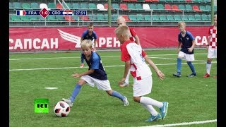 Reliving the World Cup final! Kids recreate all the goals from the match - RUSSIATODAY