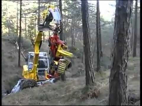 Increible maquina que corta harbol