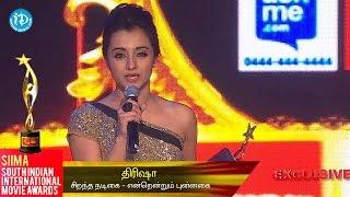 SIIMA 2014    Best Actress Popular in Tamil    Trisha - IDREAMMOVIES