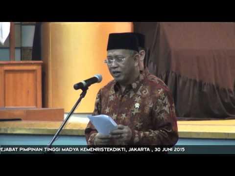 Menristekdikti Lantik Pejabat Pimpinan Tinggi Madya