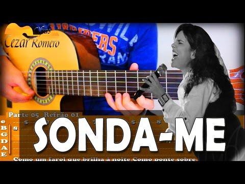 Aula de Violão Gospel- SOLO com as Tabs Sonda me Aline Barros