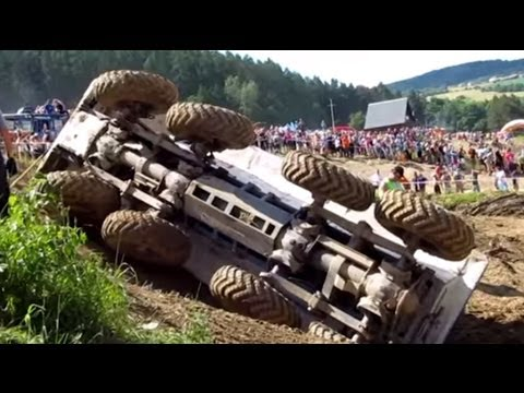 HOT crashes! The Best of Truck trial Extreme 2014 Mohelnice