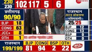 Rajasthan Election Results 2018: Senior Congress leader Ashok Gehlot addresses media - ZEENEWS