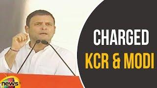 Rahul Gandhi Charged KCR, Modi at Bhainsa Public Meeting | Rahul Latest Speech | Mango News - MANGONEWS