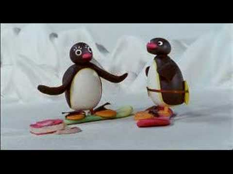 Pingu Snowboarding